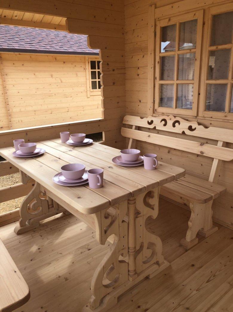Деревяные домики «Белые Росы»